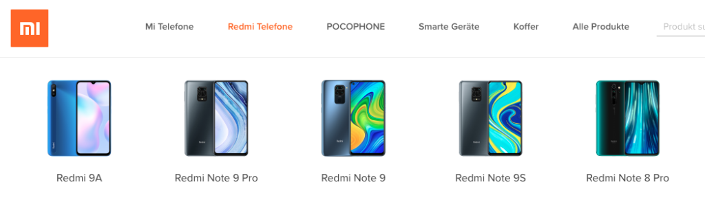 Xiaomi Segmente