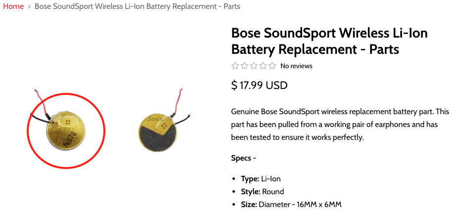 Bose SoundSport - Varta