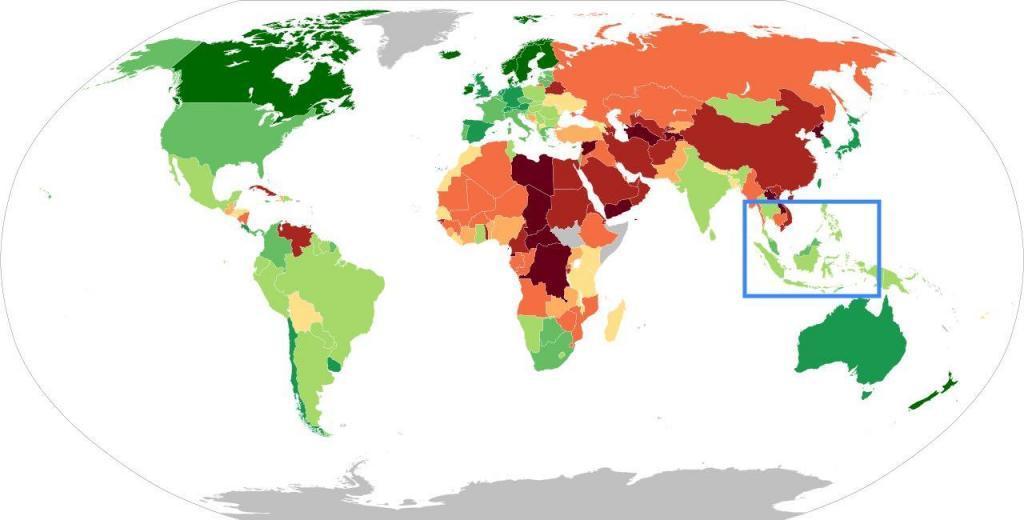 Südostasien - Demokratieindex