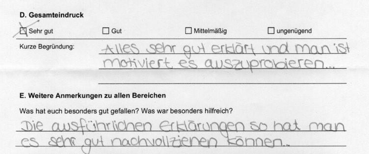 """Feedback - Vortrag zum Thema """"Schuldenprävention"""" an Augsburger Wirtschaftsschulen (3/3)"""